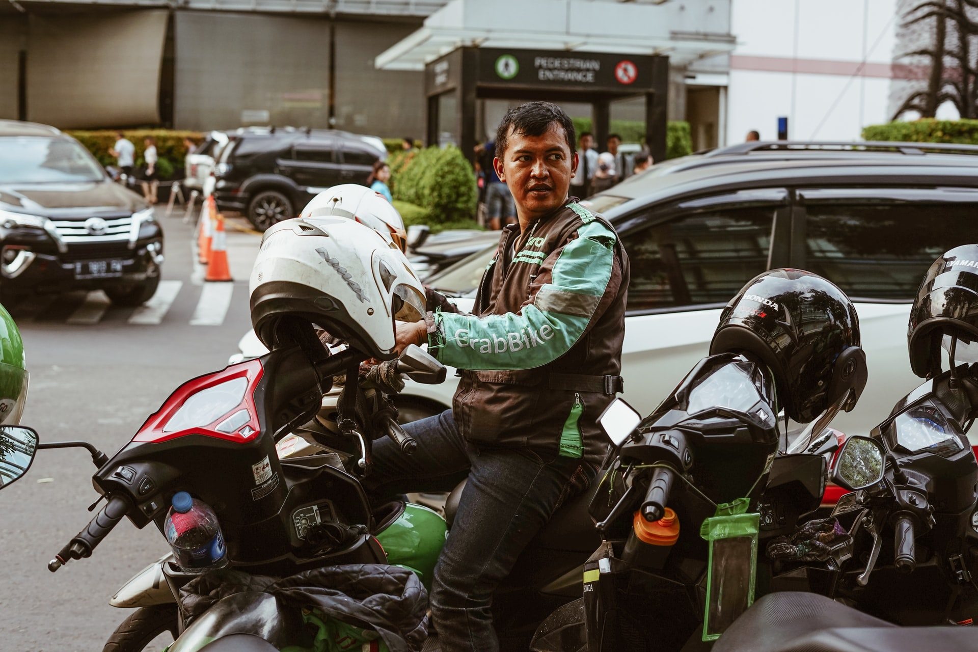 GrabBike, Grab, motorbikes, motorcycles, transportation, Indonesia