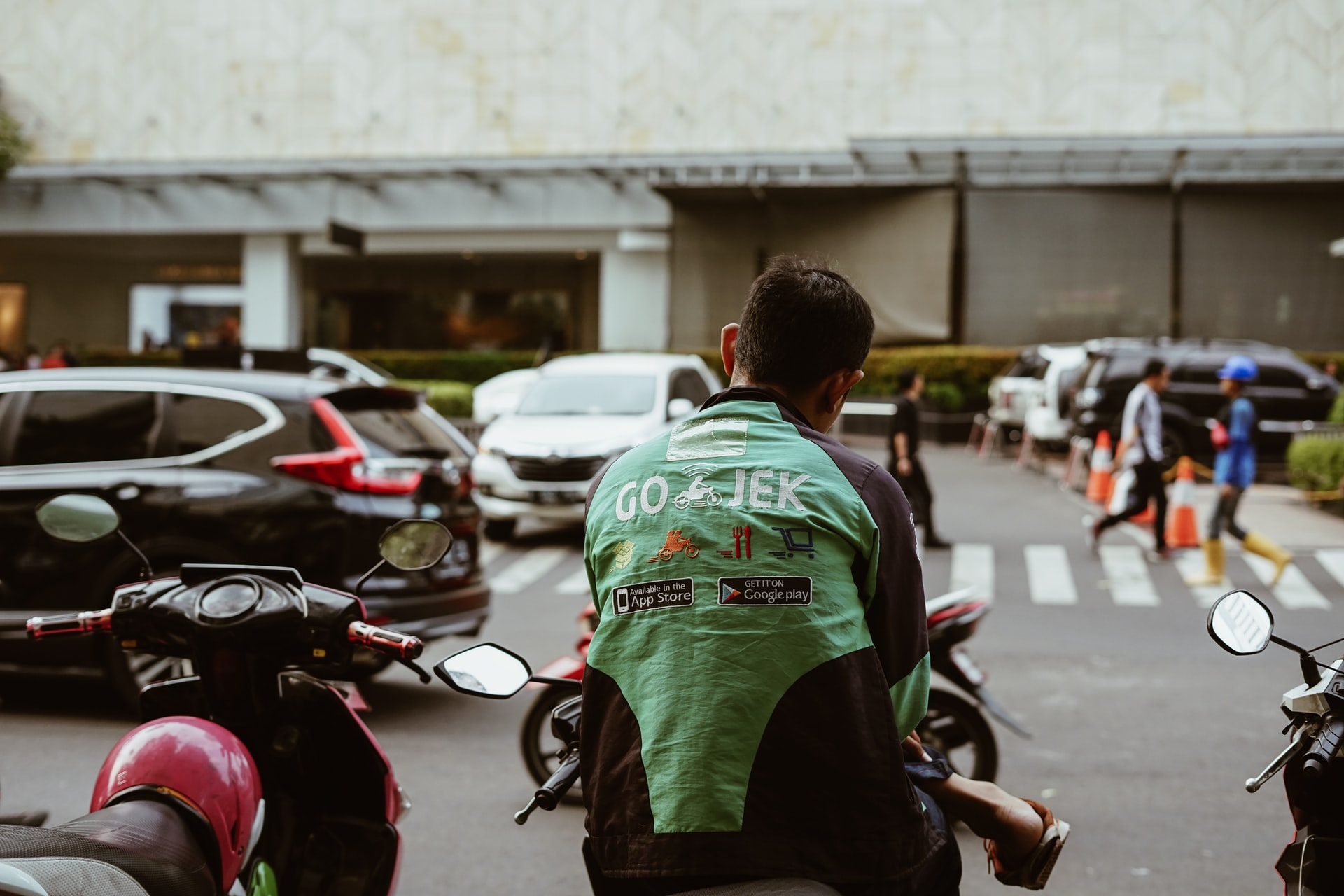 Gojek, motorbikes, motorcycles, transportation, Indonesia