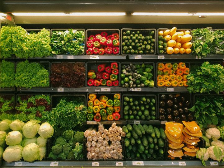food, supermarket, retail, vegetables,