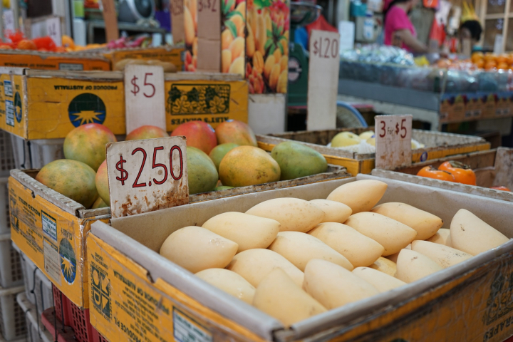fruit, food, mangoes, market, singapore