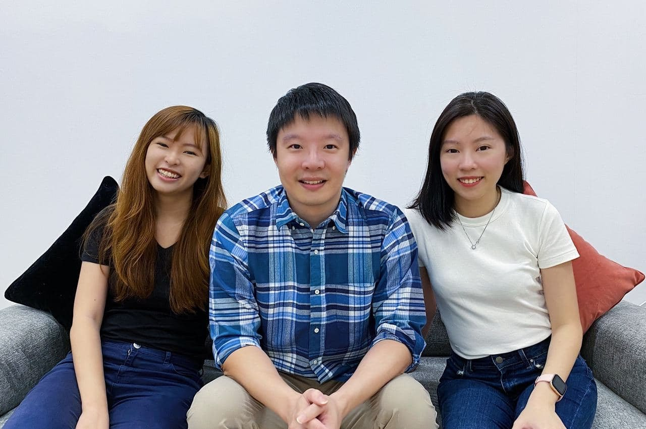 Amanda Tay, Head of Marketing and PR, along with Co-Founders Ken Tan and Charmaine Lim