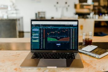 Financial Services Industry in Asia Pacific - Computer with financial charts