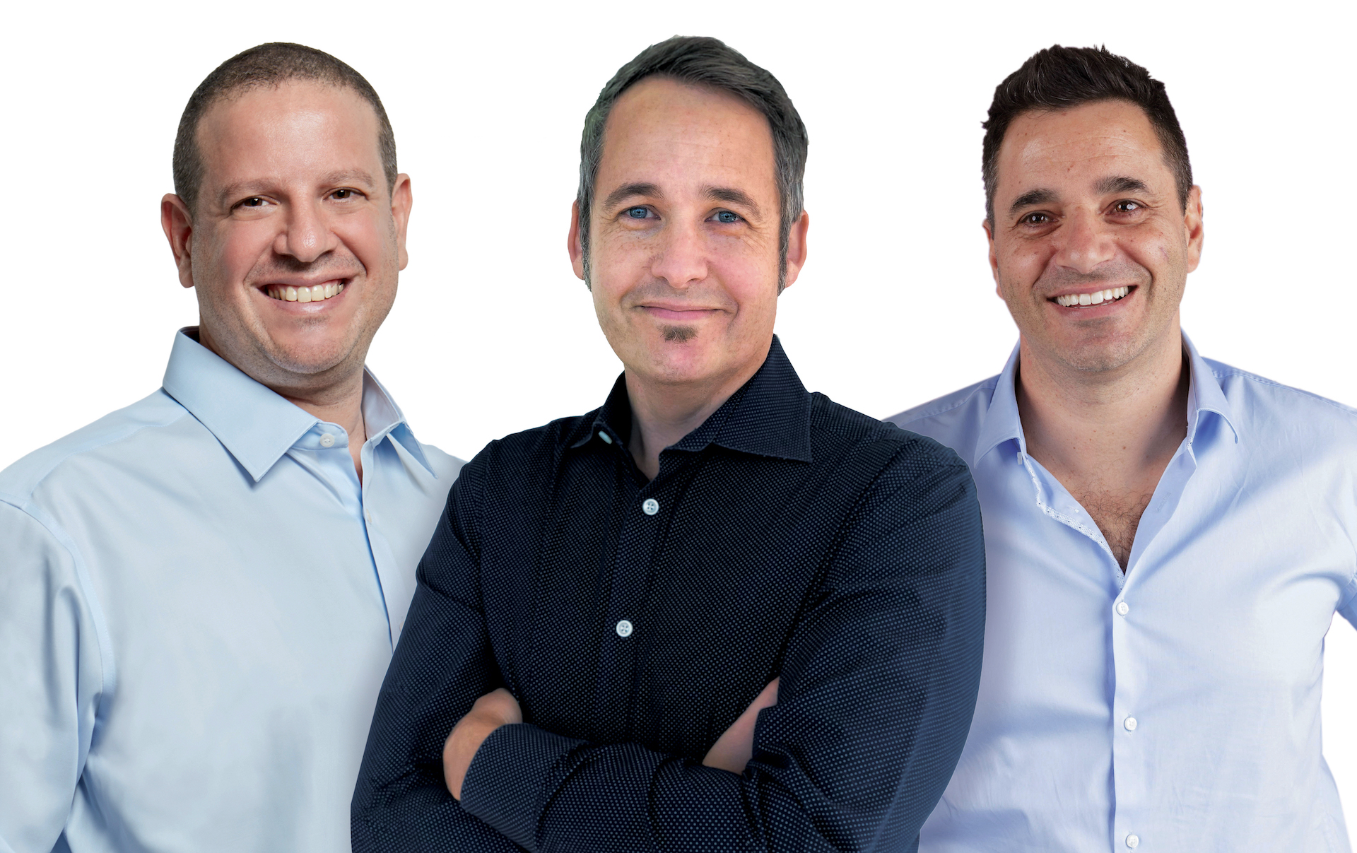 L-R: Joel Bar-El, Executive Chairman and Co-Founder; Justin Behar, Chief Executive Officer; and Dror Feldheim, President and Co-Founder
