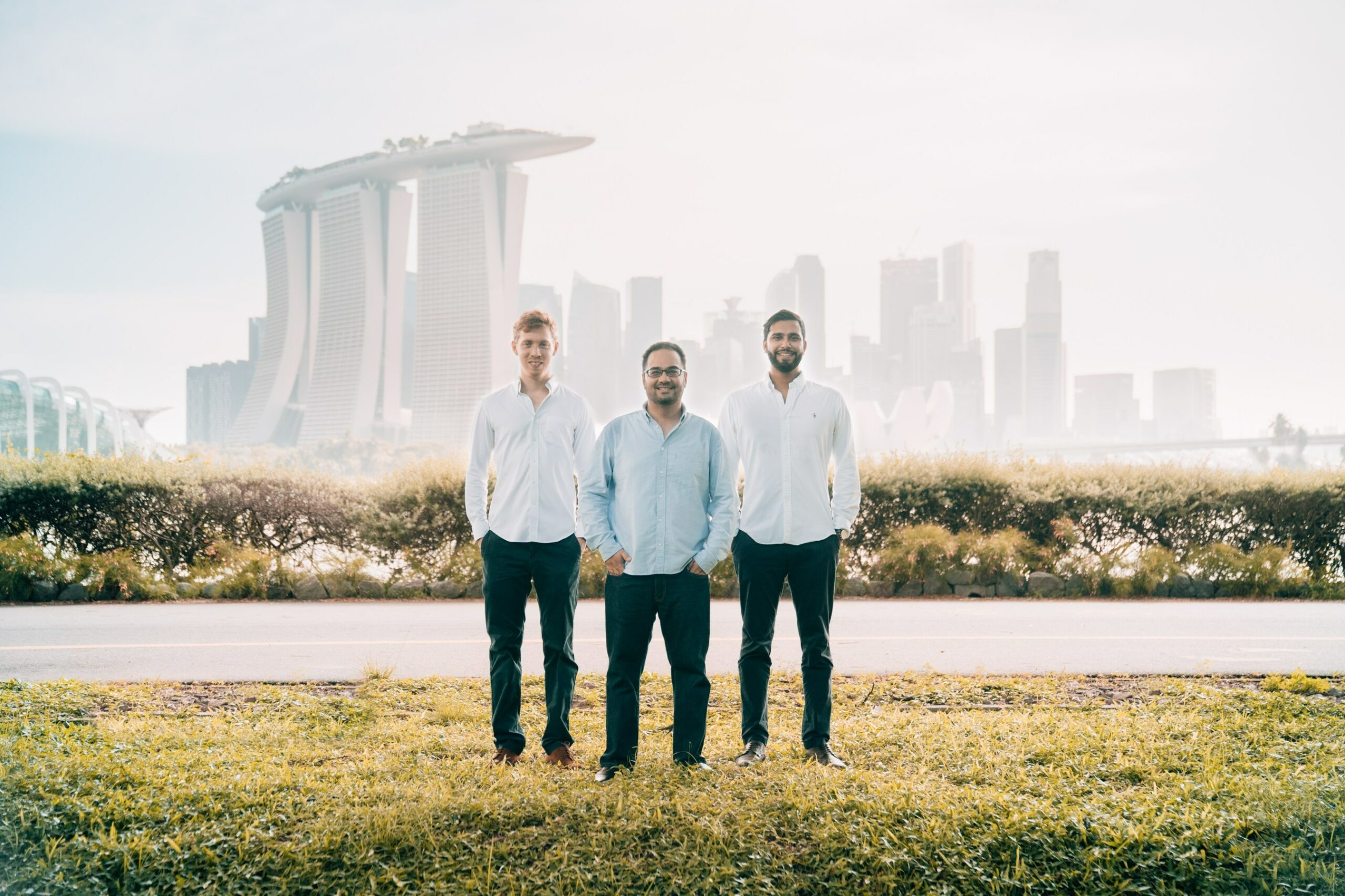 Una Brands Singapore-based Co-Founders (L-R): Tobias Heusch, Kiren Tanna and Kushal Patel
